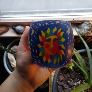 Adorable and colorful sunshine candle holder